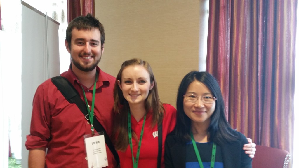 (L-R) Joe Sanford, Jenna Sanford, and Hui Wang at AIM 2015 in New Orleans.