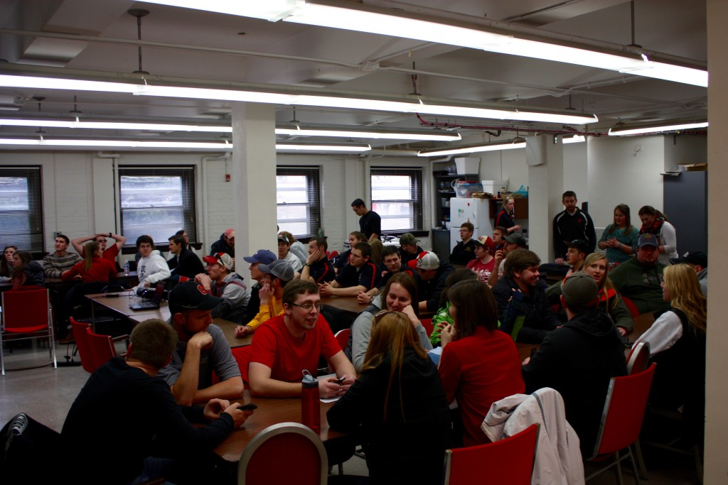 Students from similar programs around the midwest enjoy lunch together during Midwest Regional Rally.