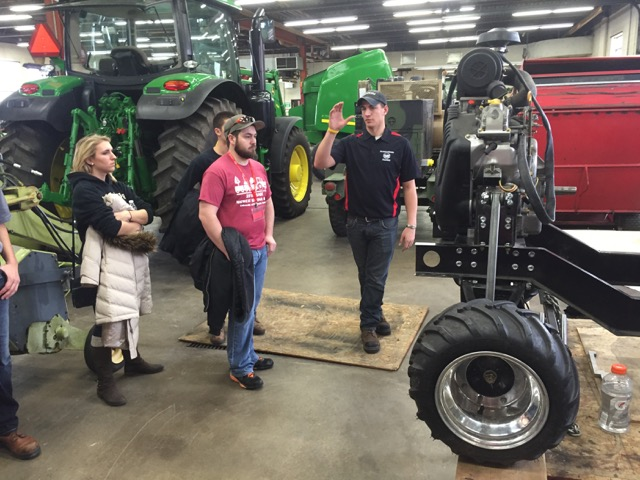 Learning about the machinery projects in the Ag Engineering Lab.